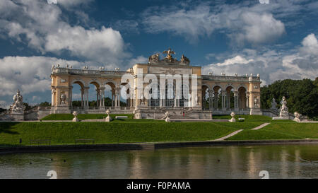 Gloriette building in the palace gardens Schloss Schoenbrunn palace, UNESCO World Heritage Site, Vienna, Austria, - Stock Photo