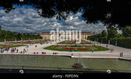Schonbrunn Palace, Vienna, Austria - Stock Photo