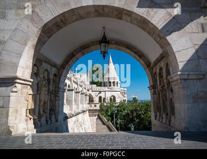 Archway, Fishermen's Bastion, Budapest, Hungary - Stock Photo