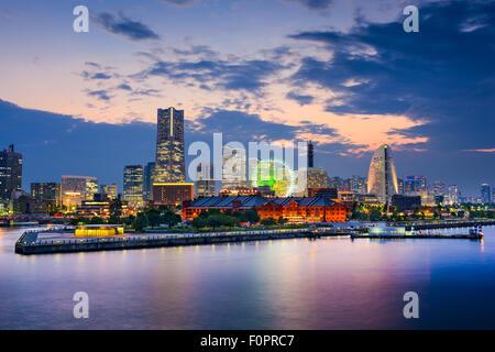 Yokohama, Japan skyline at the bay. - Stock Photo