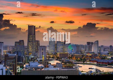 Yokohama, Japan cityscape of Minato Mirai District. - Stock Photo