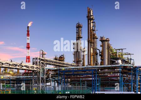Oil Refineries in Kawasaki, Kanagawa, Japan. - Stock Photo