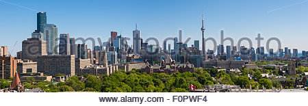 Toronto skyline different angle: Toronto is the most populous city in Canada, and the capital of the province of - Stock Photo