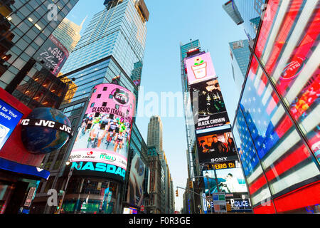 New York city, Times Square by night - Stock Photo