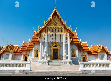Thailand, Bangkok, Wat Benchamabophit (marble temple) - Stock Photo