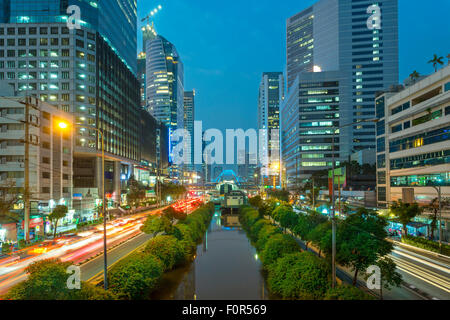 Bangkok, Thailand, Traffic in Downtown - Stock Photo