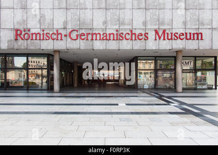 Roman Germanic museum in Cologne Germany - Stock Photo