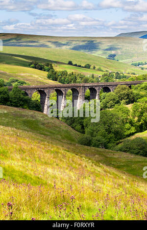 Dent Head Viaduct in Dentdale Yorkshire Dales Cumbria England - Stock Photo