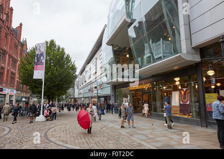The arndale shopping centre and market street Manchester England UK - Stock Photo