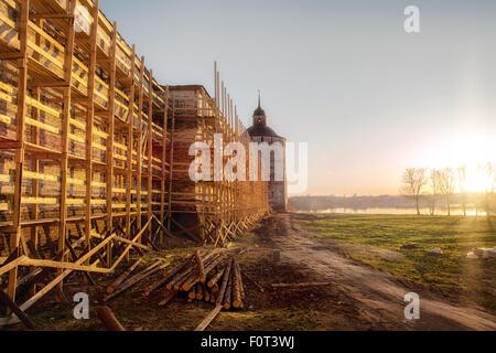 Kirillo-Belozersky Monastery. Reconstruction works - Stock Photo