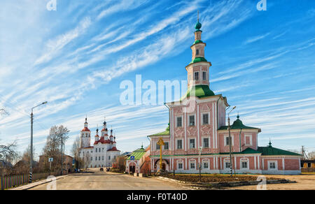 Church City Tot'ma a clear sunny day. Vologda region. Russia - Stock Photo