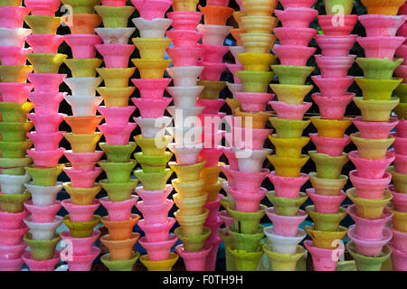 Colorful ice cream cones, Mandalay, Division Mandalay, Myanmar - Stock Photo