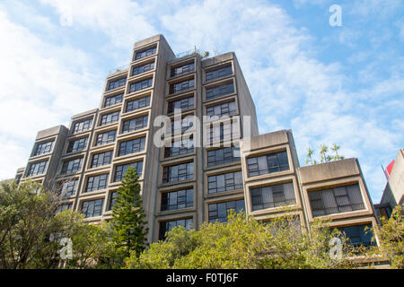 Sirius public housing building in the Rocks area of Sydney and visible as you cross the Sydney harbour bridge,australia - Stock Photo