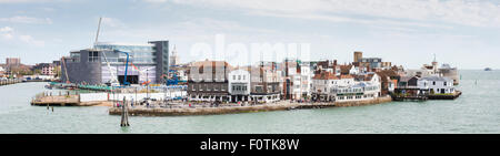 Sir Ben Ainslie's HQ for his Land Rover BAR team for the America's Cup. Old Portsmouth, Hampshire. UK. Picture date: - Stock Photo