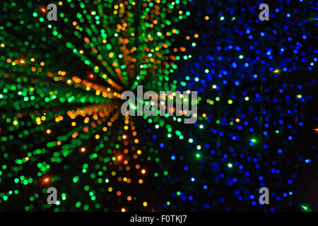 Fibre Optic Lights In The Infinity Light Tunnel At The Camera