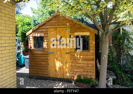 Wonderful ... A New Wooden Garden Shed   Stock Photo