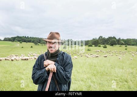Portrait of farmer in field - Stock Photo