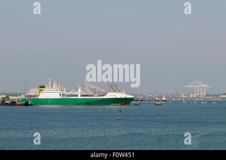 MV Eddystone, alongside at Marchwood Military Port on Southampton Water