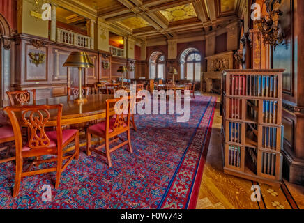 Members Room at the Library Of Congress in Washington DC. - Stock Photo
