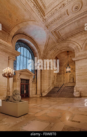 Stephen A. Schwarzman Building's main entrance named Astor Hall, which is commonly known as the New York Public Library NYPL.