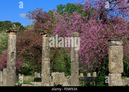 Ancient Olympia, Peloponnese, Greece, Europe - Stock Photo