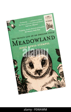 Meadowland by John Lewis-Stempel, the winner of the Wainwright Prize 2015. - Stock Photo