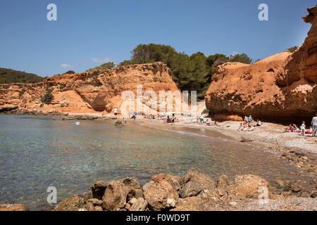 Sa Caleta beach Ibiza, Spain - Stock Photo