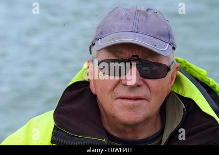 Saami boatman and tourism entrepreneur, portrait, Sarek National Park, Greater Laponia Rewilding Area, Lapland, - Stock Photo