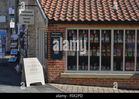 Traditional Sweet Shop exterior, Helmsley, North Yorkshire, England - Stock Photo