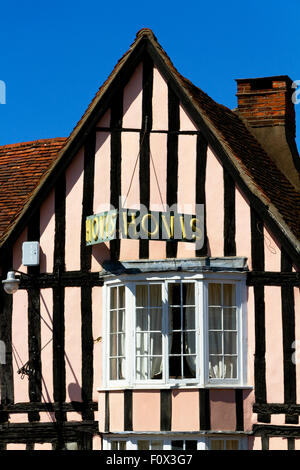 Old Hovis advertising sign on a timbered house, Market Place Lavenham, Suffolk, UK - Stock Photo