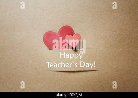 Happy teachers day greeting card in tamil stock photo 157462098 hand crafted teachers day greeting card with little red heats stock photo m4hsunfo