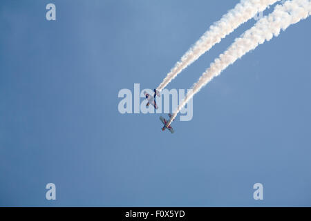 Bournemouth, UK. 22 August 2015. The Matadors aerobatic team perform at the eighth annual Bournemouth Air Festival. - Stock Photo