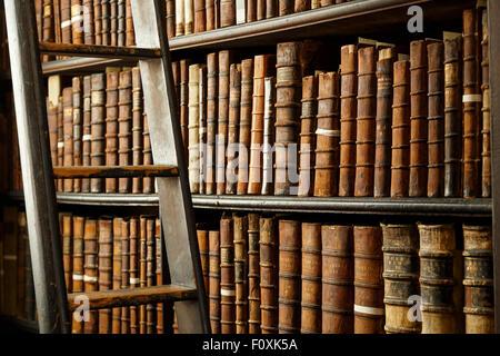 Trinity college library, Dublin, Ireland, Europe - Stock Photo