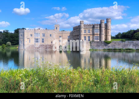 Leeds Castle, Maidstone, Kent, England, United Kingdom - Stock Photo