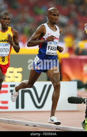 Beijing, China. 22nd Aug, 2015. Mohamed Farah (GBR) Athletics : 15th IAAF World Championships in Athletics Beijing - Stock Photo