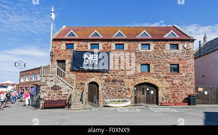 The harbour in North Berwick East Lothian Scotland with East Lothian Yacht club building - Stock Photo