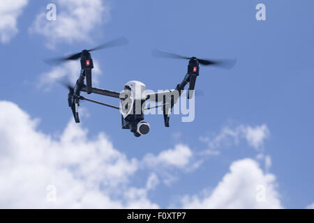 DJI Inspire Drone quadcopter a  commercial and recreational unmanned aerial vehicle for aerial photography and video - Stock Photo