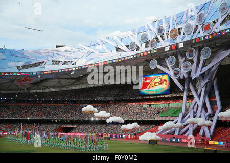 Beijing, China. 22nd Aug, 2015. The opening ceremony of the 15th IAAF World Championships in Athletics at the National - Stock Photo