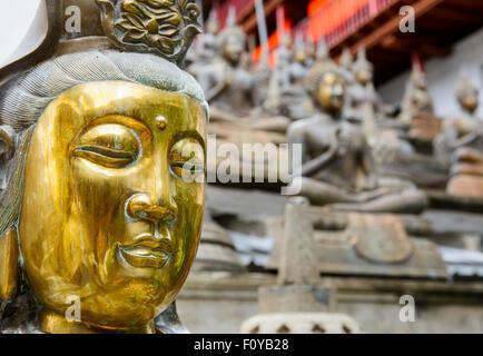 The Gangaramaya Buddhist Temple in Colombo, Sri Lanka - Stock Photo