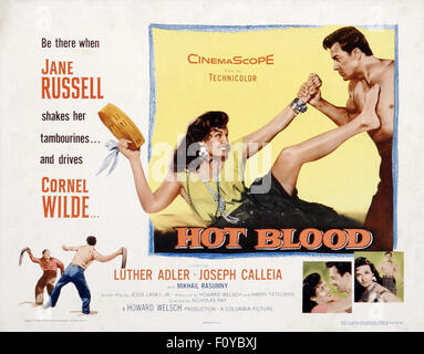 Hot Blood (1956) - 01 - Movie Poster - Stock Photo