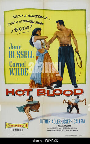 Hot Blood (1956) - 06 - Movie Poster - Stock Photo