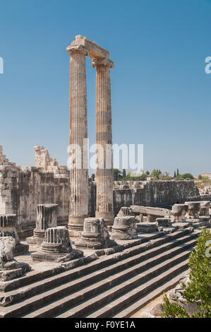 Ancient Temple of Apollo in Didyma, Turkey - Stock Photo