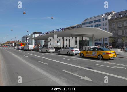 Nørreport Station at Nørrevold in Copenhagen - Stock Photo