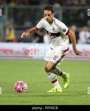 Florence, Italy, 23rd Aug, 2015. Milan's midfielder Giacomo Bonaventura  during the Italian Serie A football match between ACF Fiorentina v AC Milan on 23th August, 2015 at Franchi Stadium in Florence, Italy. Credit:  Andrea Spinelli/Alamy Live News