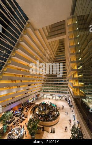 Interior of the Marina Bay Sands Hotel, Singapore - Stock Photo