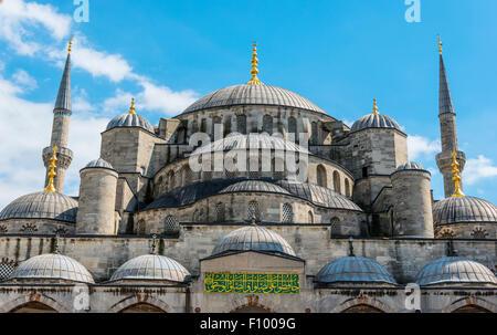 Blue Mosque, Sultan Ahmet Camii, Sultanahmet, European Side, Istanbul - Stock Photo