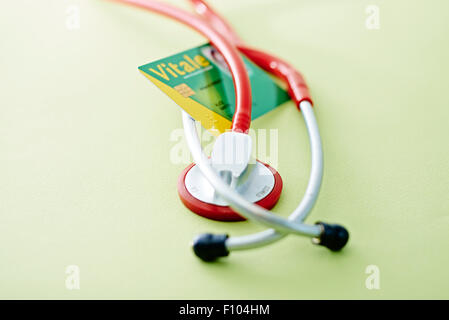 NATIONAL HEALTH SERVICE CARD - Stock Photo
