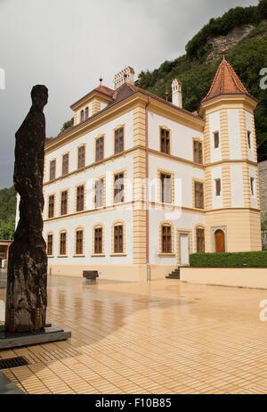 Government buildings in Vaduz Liechtenstein - Stock Photo