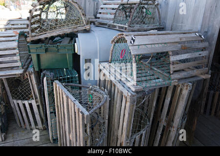 empty lobster cages - Stock Photo