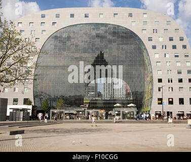 Markthal building in Binnenrotte, central Rotterdam, Netherlands, completed 2014 architects MVRDV - Stock Photo